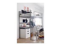 """IKEA SVARTA""""LOFT"""" BED FRAME WITH DESK (transport included)"""