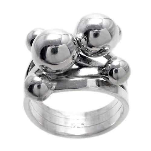 Sterling Silver Ball Ring Ebay
