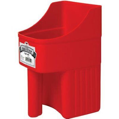 Little Giant 3-Quart Enclosed Feed Scoop Red Miller Enclosed Feed Scoop