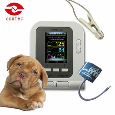 Contec08a-vet Digital Blood Pressure Monitorveterinaryanimal Nibpspo2 Probe
