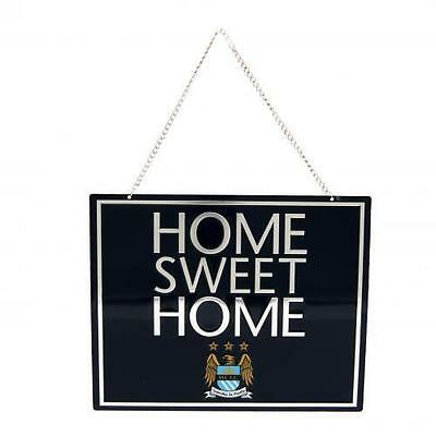 *AMAZING* MANCHESTER CITY Official Home Sweet Home Door Wall Hanging Sign Plaque