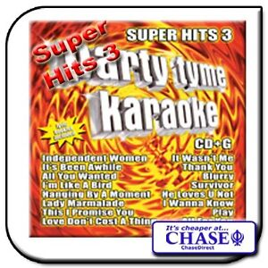 PARTY TYME KARAOKE CD CDG CD+G DISC BACKING TRACKS SONG SUPER HITS 3 POP