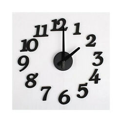 DIY Design Art Foam Sponge Digit Wall Clock L6