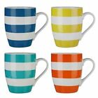 Striped Bone China Mugs