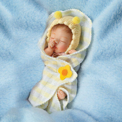 ASHTON DRAKE Bundle of Sunshine 4'' Baby Doll by Sherry Rawn NEW