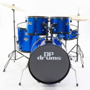 DP Drums Blue 5 Piece Full Size Drum Kit Package Starter Plus Hornsby Heights Hornsby Area Preview