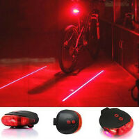 Bicycle Laser Tail Light LED Water Resistant 7Mode Mountain BiKe