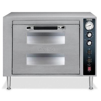 Waring Wpo750 Double Deck Countertop Pizza Oven Two Doors