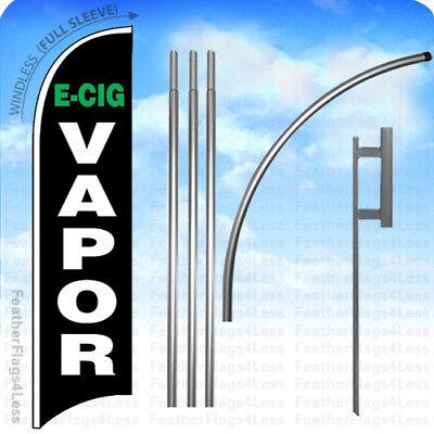 E-cig Vapor - Windless Swooper Flag Kit 15 Feather Vape Shop Sign - Kb