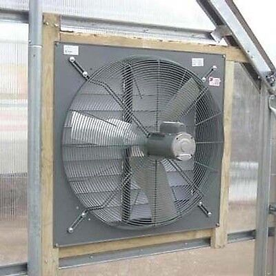 36 Exhaust Fan With Louver Shutter - 12000 Cfm - 115230 V - 1 Phase - 12 Hp