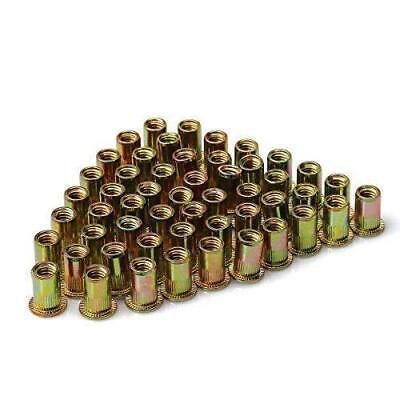 Urbest 50 Pcs Steel Rivet Nut Rivnut Insert Nutsert 516-18