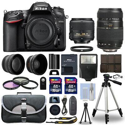 Nikon D7200 Digital SLR Camera + 4 Lens Kit 18-55mm + 70-300mm + 24GB Combination