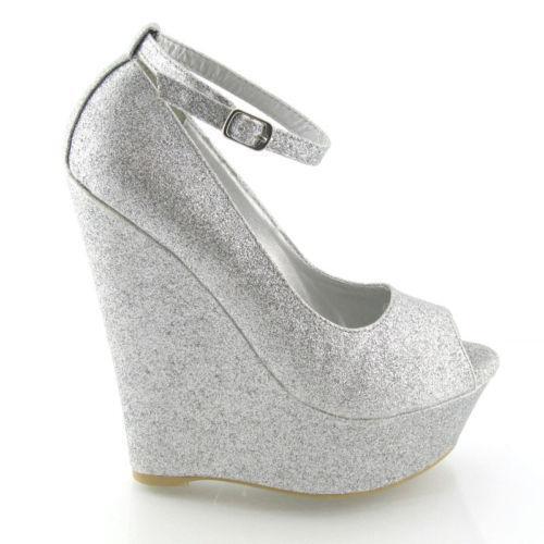 Peep toe wedge 8 5 ebay