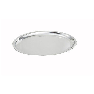 (Winco SIZ-11, 11-Inch Oval Sizzling Platter, Stainless Steel)