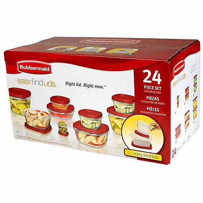 Food Storage Containers with Easy Find Lids 24-Piece Set with Bonus Rubbermaid