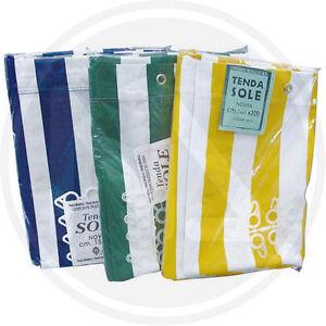 Tenda tende da sole in cotone telato con anelli e ganci for Tende in cotone