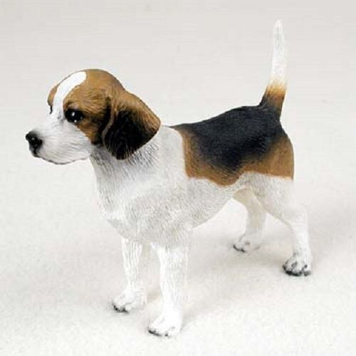 BEAGLE dog FIGURINE puppy HAND PAINTED Statue COLLECTIBLE resin NEW animal