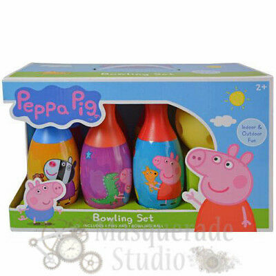 Nick Jr. Peppa Pig Bowling Set Toy Gift Set For Kids Indoor Outdoor Fun ()