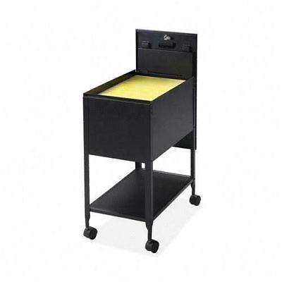 Rolling Office File Cabinet Organizer Lock Mobile Storage Sliding Cover Shelf