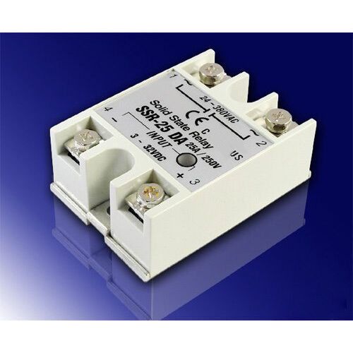 25A DC-AC SSR Solid State Relay 3V-32V DC input for oven, HY