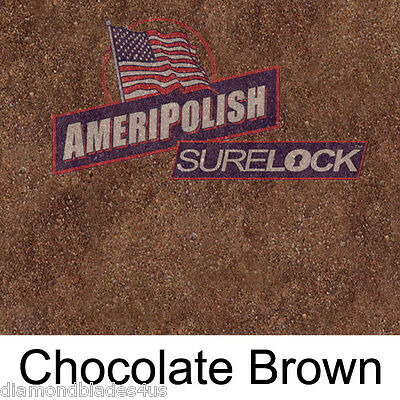 5 Gl. Brown Concrete Color Dye For Cement Stain Ameripolish Surelock Color
