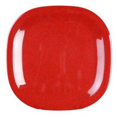 Red Square Plates (Picnic Plastic Dishes Square Classic Plates Raised Edges Red)