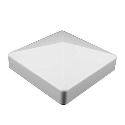 """Durable White PVC Vinyl External Pyramid Post Cap  4""""X4"""""""