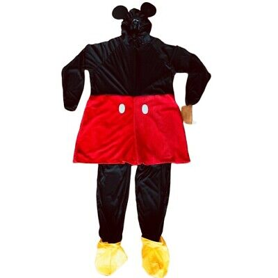 Mickey Mouse Costume Adult Disney Halloween Size XXL Disney Store with Gloves
