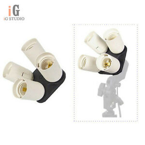 4-in-1-Photo-Studio-Light-Lamp-E27-adapter-holder-for-Four-Continuous-Light-Bulb