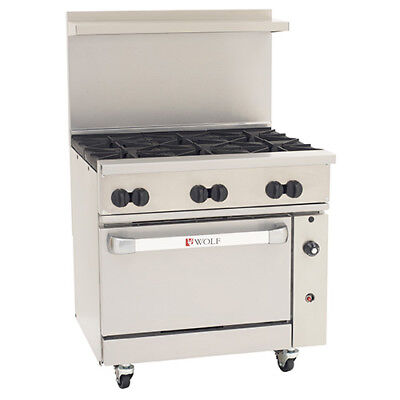 Wolf Challenger Xl Lp Gas Range 36w 1 Bakers Oven 6 Burners
