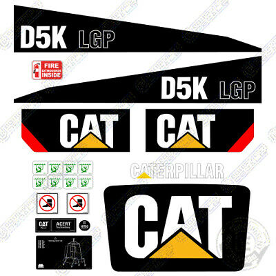 Caterpillar D5k Lgp Decal Kit Dozer Safety Decals Warning Stickers Crawler
