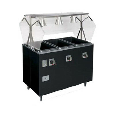 "Vollrath 3870946 46"" Affordable Portable Storage Base Hot Food Station (Black)"