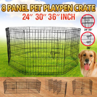 Quality 8 Panel Pet Playpen Portable Exercise Fence Crate