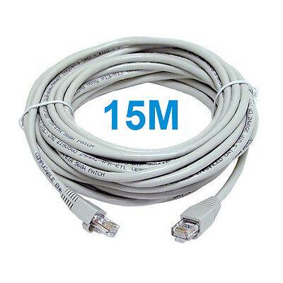 15M CAT5e RJ45 ETHERNET INTERNET LAN NETWORK PATCH LEAD CABLE