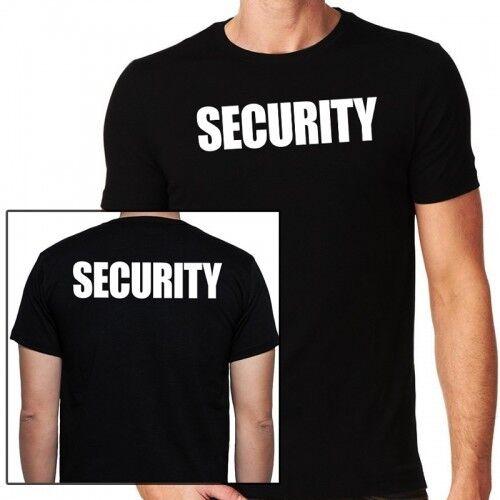 SECURITY T-Shirt - Front & Backprint SECURITY Text weiss - Herren - S - 5XL