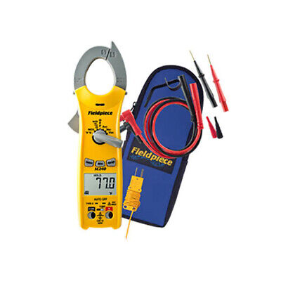 Fieldpiece Sc240 Ac Clamp Meter 600vacdc 400aac Wtemp Cap