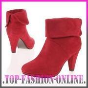 Damen Schuhe Stiefel Boots in Leder Optik Stiefeletten