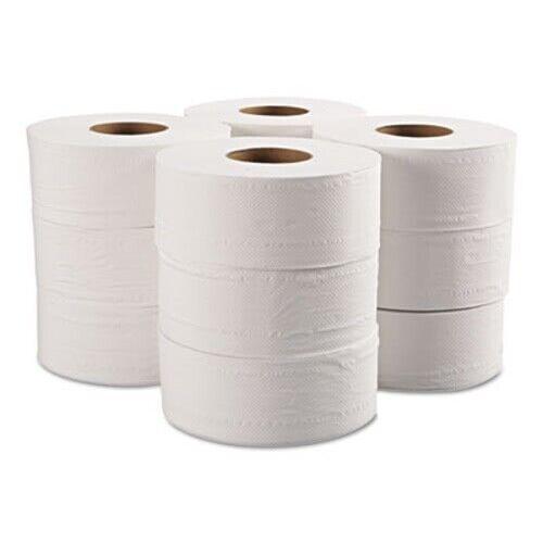 GEN Jumbo Jr. 2-Ply Toilet Paper Rolls, White, 12 Rolls (GEN29B)