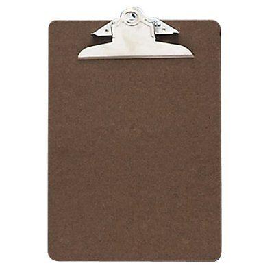 Oic Wood Clipboard - 1 Capacity - 6 X 9 - Clamp - Hardboard - Brown