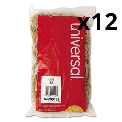 Rubber Bands Size 32 0.04 Gauge Beige 1 Lb Box 820pack Pack Of 12
