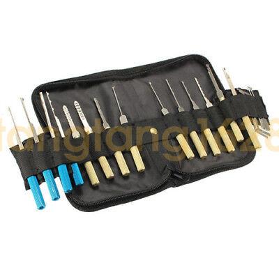18Pcs Dimple Lock Opener Tool Practice Unlocking Keys Remove Bullet + Guides set