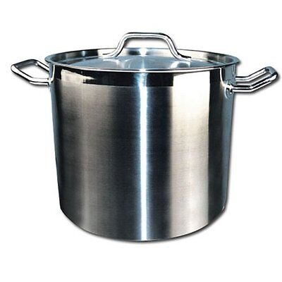 Winware Stainless Steel 60 Quart Stock Pot with Cover 60 Quart Stock Pot