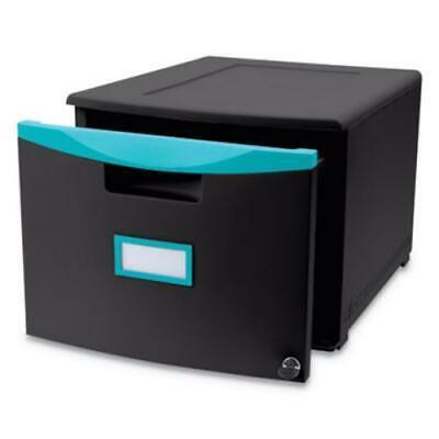 Storex 61270u01c Single-drawer Mobile Filing Cabinet 14 34w X 18 14d X 12
