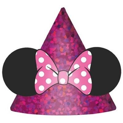 MINNIE MOUSE Happy Helpers MINI CONE HATS (8) ~ Birthday Party Supplies Favors - Minnie Mouse Birthday Hats