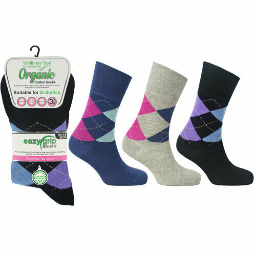LADIES GOLF SOCKS MADE FROM WELLNESS ORGANIC COTTON - £12.95 PACK 3 OR LESS