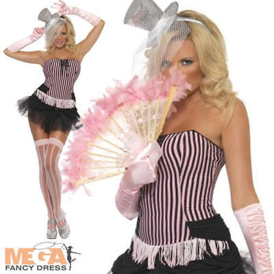 Burlesque Outfits For Women (Burlesque Fever Moulin Rouge Ladies Fancy Dress Womens Adults Costume Outfit)