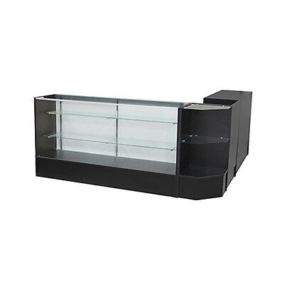Sccombo-b Showcase Glass Display Case Check Out Counter Set Brand New