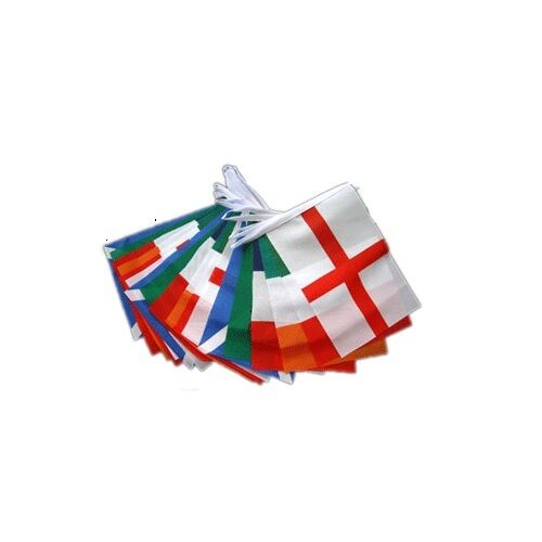 6 Nations Rugby Flags & Bunting - Wales Scotland England Ireland - 9m * 5 x 3 FT