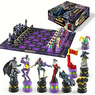 Batman Dark Knight Vs Joker Chess Set Dc Comics Super Hero By Noble Collection