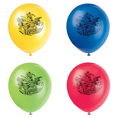 JUSTICE LEAGUE LATEX BALLOONS (8) ~ Birthday Party Supplies Helium Decorations